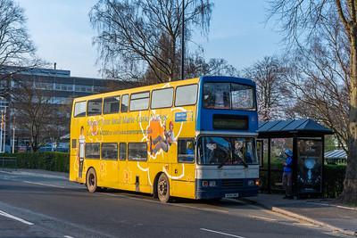 R694DNH Volvo Olympian ex-Stagecoach, Stafford railway station