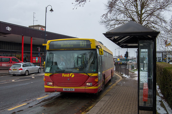 First Red/Yellow Livery, Stafford station