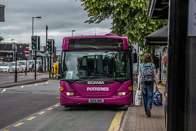First Potteries Scania OmniCity YN06 WME
