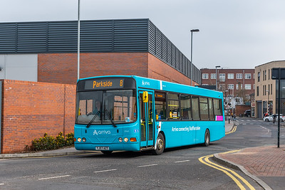 Arriva 3740 YJ57AZT, Stafford Gaol Square. Preparing to form Route 8 Stafford Gaol Square - Parkside (arriving on a H Stafford Hospital - Stafford Gaol Square)