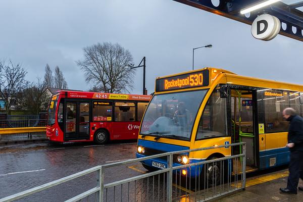 New & Old: Banga Bus and National Express