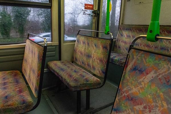 Bench type seating on board V253JRR (Banga Buses)