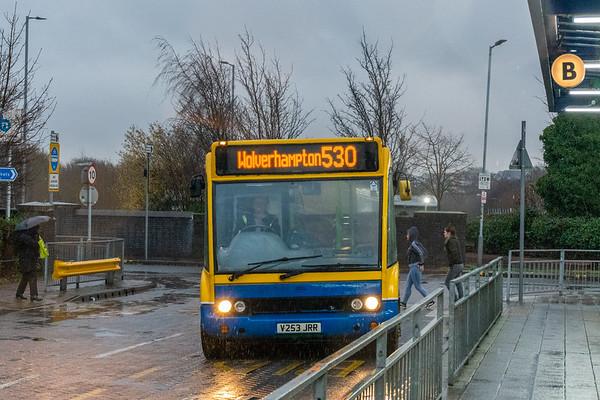 V253JRR, Bilston Bus Station