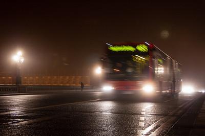 453 bus on Westminster Bridge