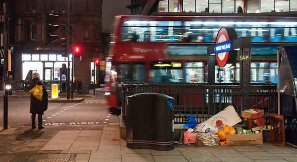 Bus at Chancery Lane