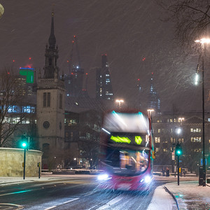 Snowstorm in London