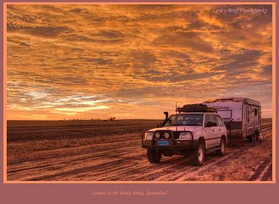 Free camping near Mt Booka Booka in western Queensland, Australia.