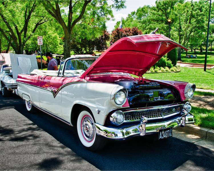 1955 Ford Fairlane Convertible, Antique Car Show, Armstrong Street, Old Town Fairfax, Virginia