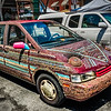 B DAZLE, the beaded minivan, Market Street, Roanoke, Virginia