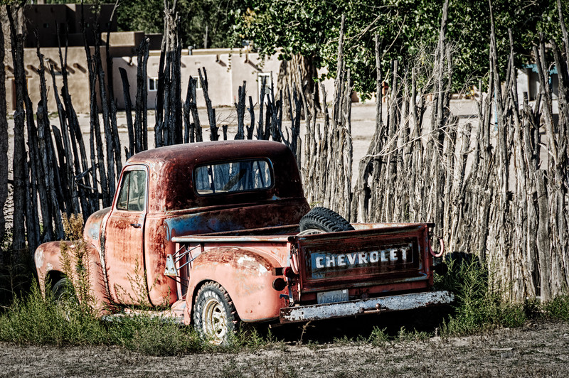 Rusting Chevrolet Pick-up Truck, San Ildefonso Pueblo, New Mexico