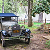 1928 4-door Model A Ford outside Patrick Henry's Scotchtown, Chiswell Lane, Beaverdam, Virginia