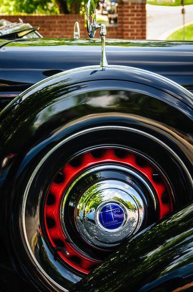 1936 Lincoln V-12, Antique Car Show, Armstrong Street, Old Town Fairfax, Virginia