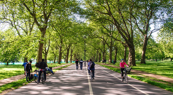 Cycling on Hyde Park Broadwalk