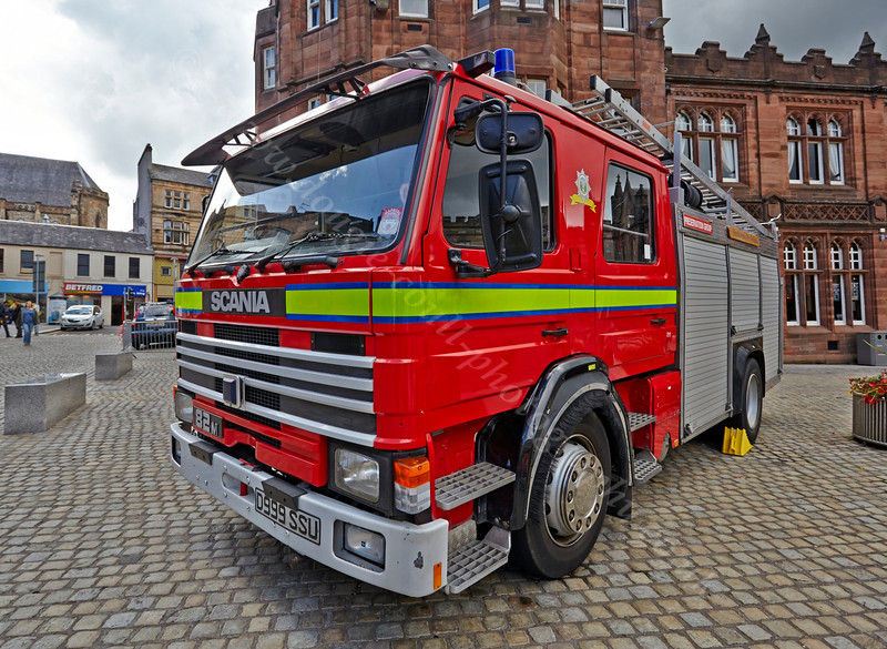 Scania Fire Tender at Paisley Fire Engine Rally - 17 August 2013