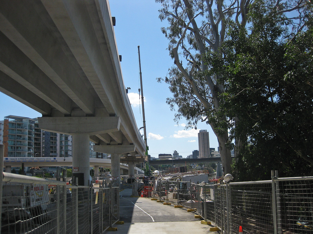 """Go Between Bridge"" Construction, 30 September 2009; Brisbane, Queensland, Australia."