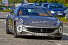 Team 55 from Dubai in their Ferrari FF at the Gumball 3000 Rally near Prestwick - 8 June 2014