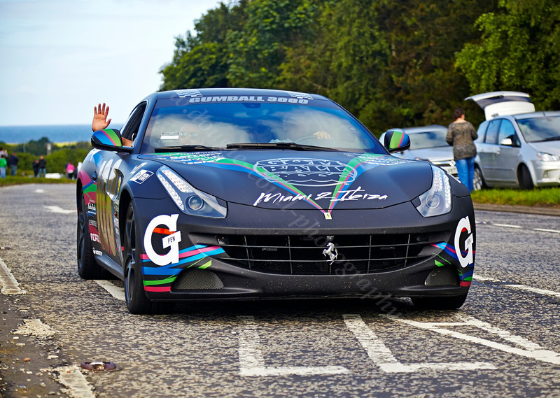 Ferrari F12 at the Gumball 3000 Rally near Prestwick - 8 June 2014