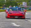 Ferrari 458 Italia coupe at the Gumball 3000 Rally near Prestwick - 8 June 2014