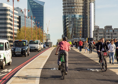Cycleway 6 on Blackfriars Bridge