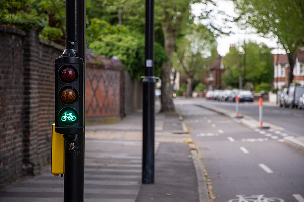 Green light on London cycleway