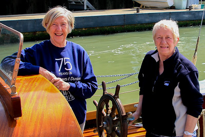 Liz Hankin (Rescue Wooden Boats) and Anna Rendell-Knights