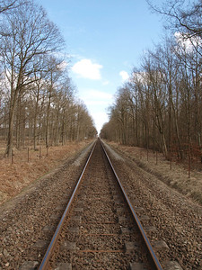 Train tracks in Denmark. Photo: Martin Bager.