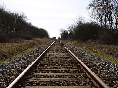 Train tracks in Denmark. Photo: Martin Bager.