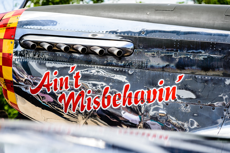 P-51 Mustang Ain't Misbehavin', Fly-In to Victory Day, Steven F. Udvar-Hazy Center, 1Smithsonian National Air and Space Museum, Chantilly, VA