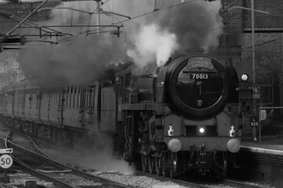 Steam Train Oliver Cromwell coming through Marks Tey