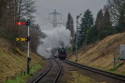 LMS Class 2 46521 approaches Rothley