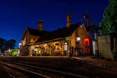 Arley station by night - 1940s weekend 2019