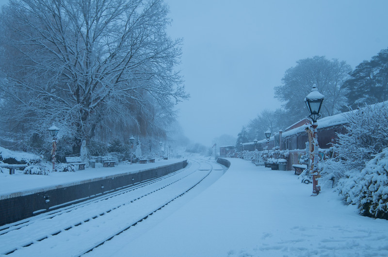 Arley snowed in, Severn Valley Railway