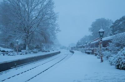 Arley snowed in, Severn Valley Railway