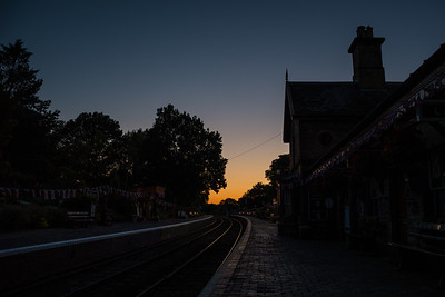 Arley station - A sillhouette