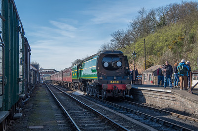 34081 at Bewdley