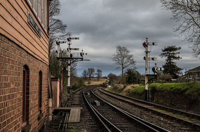 Looking out from Bewdley South