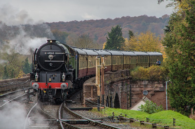LNER A1 Class 60163 'Tornado' arrives into Bewdley