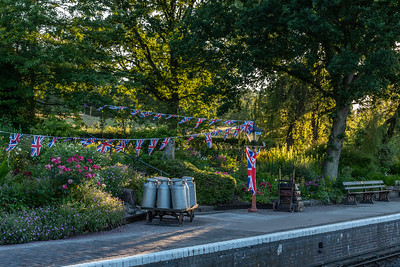 Arley station by sunset