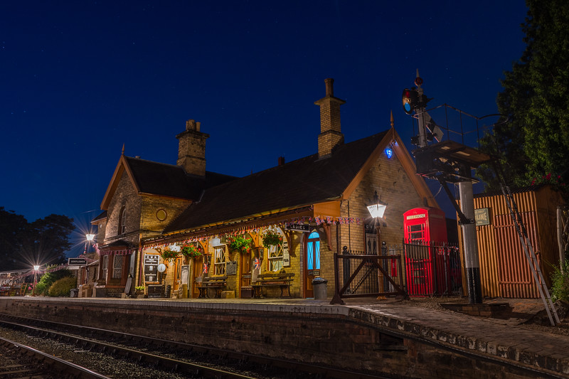 Arley Station by Night