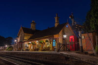Arley Station by Night