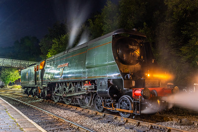 34092 - Simmering away at Highley