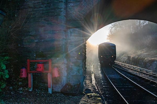 Sunrise DMU - Arley Station