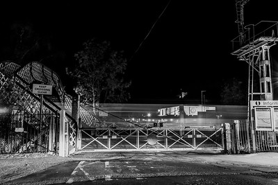 Brundall Level Crossing by Night