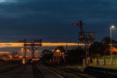 Semaphores in the fading light - Lowestoft
