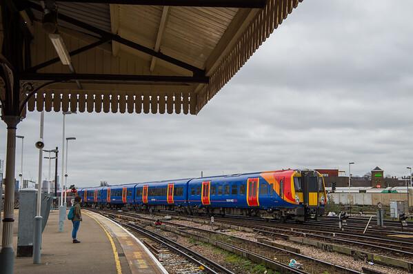 458521 & UID class 458, Clapham Junction depot