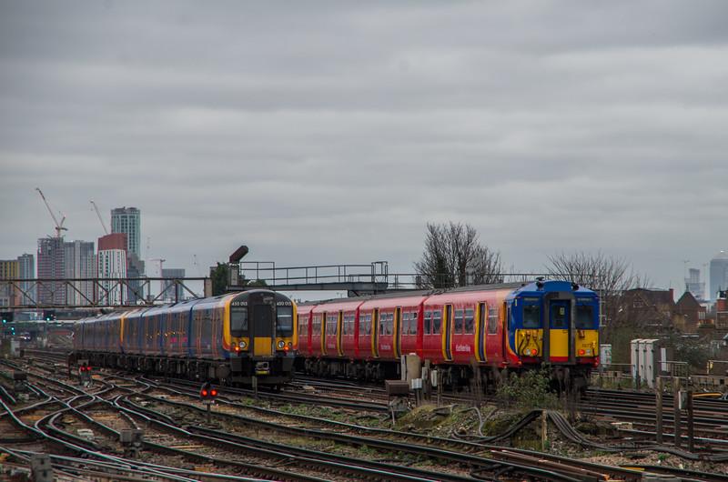 450015 & Class 455, Clapham Junction