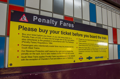 Penalty Fares - Clapham Junction