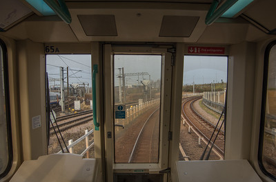 Front seat of the DLR