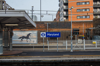 TfL Rail signage, Maryland