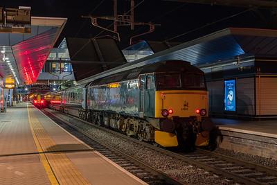 57603 hauls the Night Riviera to Penzance